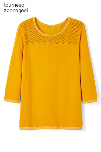 Pull manches 3/4 Maille fantaisie