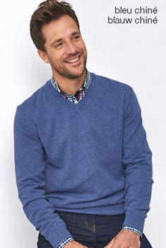 Pull col V lambswool