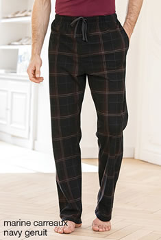 Pantalon pyjama micropolaire carreaux