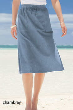 Jupe - Toile chambray pur coton