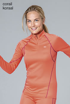 T-shirt col zippé femme Damart Sport, Easy Body Thermolactyl®