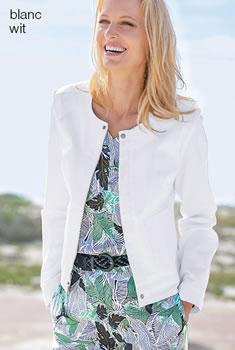 Veste zippée coton stretch