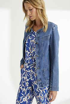 Veste denim stretch