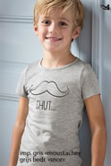 "Lot de 2 T-shirts enfant ""moustache"" Thermolactyl®"