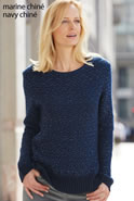 Pull maille jacquard chiné mohair brillant